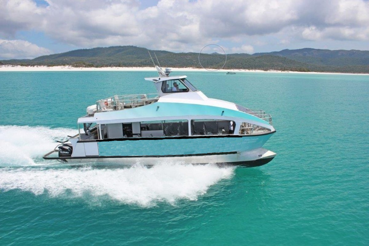 Grandsea 39ft Aluminum 30persons Catamaran Passenger Water Taxi Boat For Sale