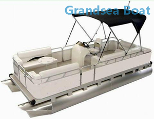 19ft Aluminum Catamaran Pleasure Pontoon Boat for Sale