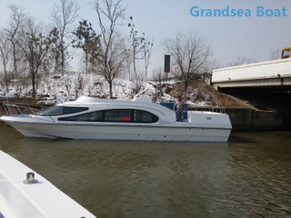 13.8m 36 Persons Fiberglass Passenger Ferry Boat with Inboard Diesel Engine for Sale