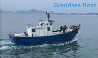 13.6m Fiberglass Commercial Trawler Fishing Boat for Sale