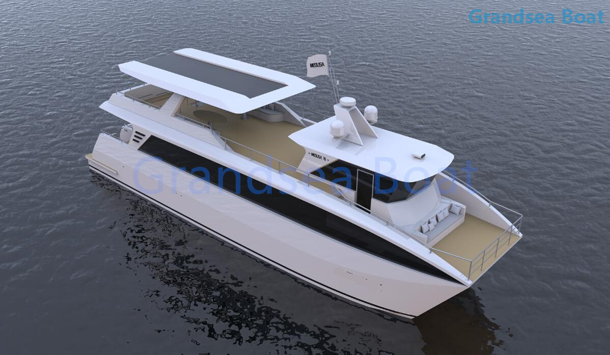 24m Aluminum Touring/sightseeing/luxury House Boats for Sale