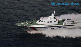 34.6m Offshore High-Speed Fiberglass Patrol Craft Boat for Sale