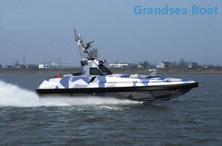 Fiberglass Surface Drive High Speed Unmanned Patrol Boat for Sale