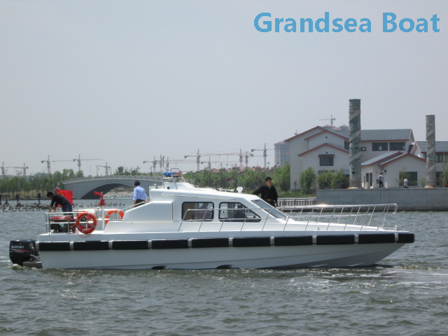 Grandsea 40-41ft FRP Fast Fire Rescue Boat with Outboard Engine for sale