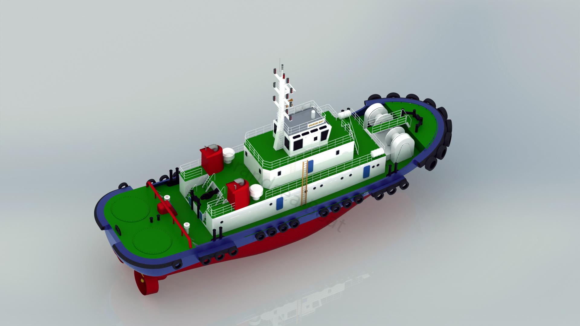 Grandsea Length 40m Ocean Going 4000hp ASD Tugboat for ...