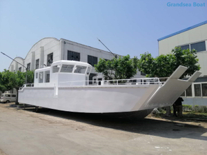 16m big deck aluminum LCT fishing boat for sale