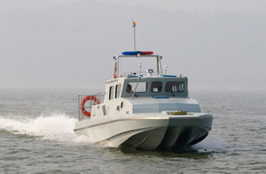 Grandsea Boat 12m Fiberglass Wave-suppression Trimaran Patrol Boat For Sale
