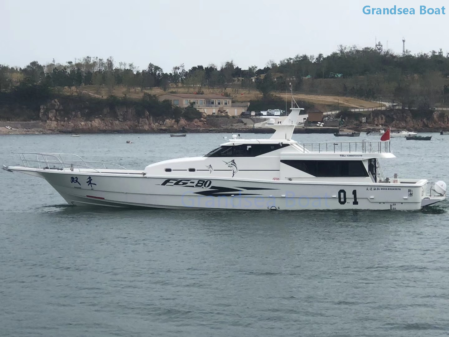Grandsea 77ft Fiberglass Deep Sea Fishing Trips Boat for Sale
