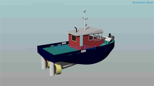 800HP Twin Screw 12m Aluminum Harbour Tug Work Boat for Sale